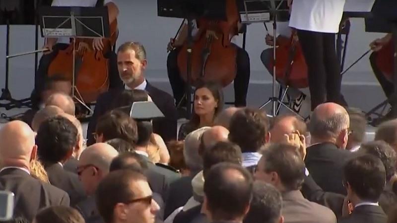 Los Reyes en los actos de conmemoración de los atentados en Cataluña en agosto de 2017