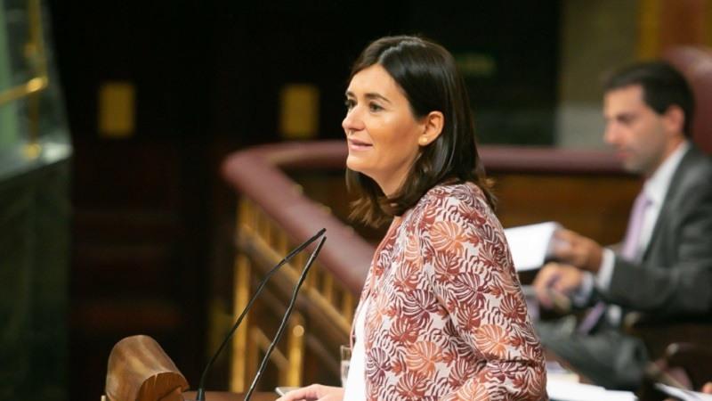 Carmen Monton en una imagen en el Congreso el 6 de septiembre @CarmenMonton