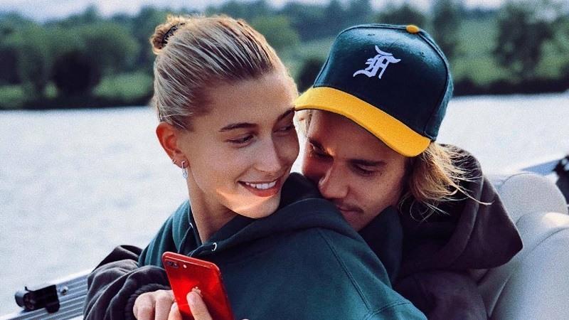Hailey Baldwin y Justin Bieber en agosto 2018. INSTAGRAM