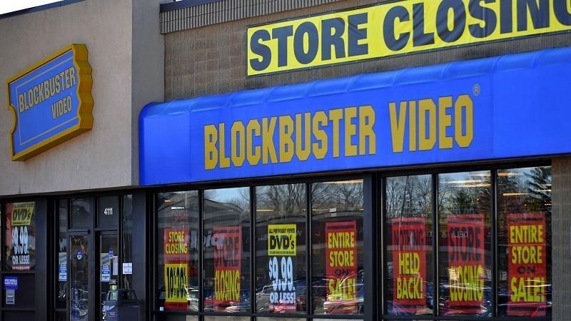 Tienda Blockbuster Video cerrada en Estados Unidos