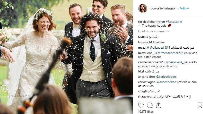 Kit Harington y Rose Leslie se casan