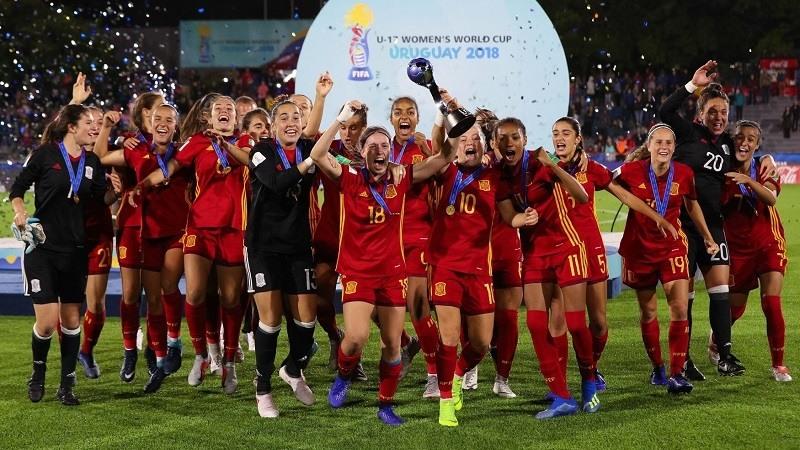 La seleccion espanola de futbol femenino sub17 gana su primer mundial