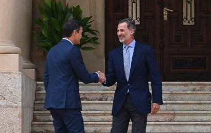 Sanchez recibido por el rey Felipe VI