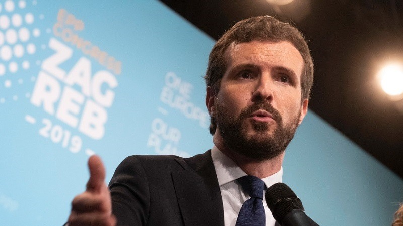 """Casado sobre el señalamiento de Iglesias a periodistas: """"Prefiero un país con periódicos y sin Gobierno a lo contrario"""""""