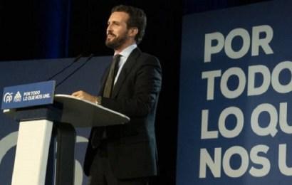 Casado afirma que España no aguanta una crisis más con los socialistas en el Gobierno