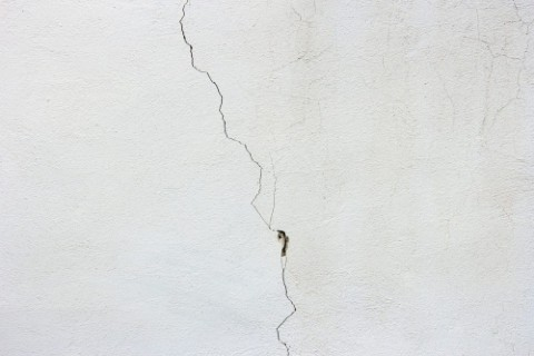 grietas en la pared