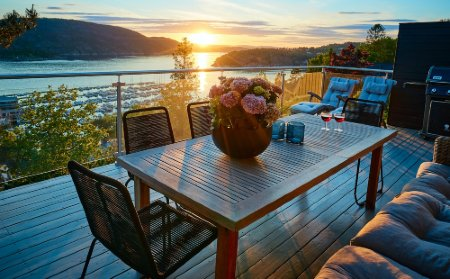 comedor en la terraza