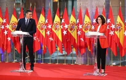 Sánchez y Ayuso lanzan un mensaje de unidad y crean un grupo de trabajo específico contra la COVID-19