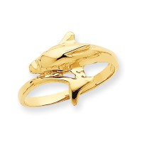 14K yellow gold Dolphin ring EJLR30614