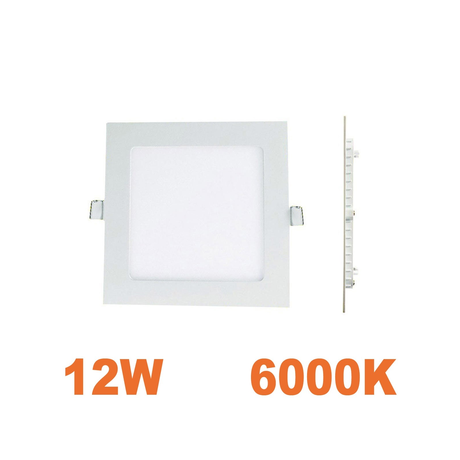 spot encastrable led carre downlight panel extra plat 12w blanc froid 6000k