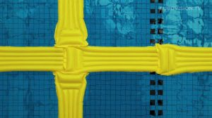 Postcard flags of Eurovision 2014 - Sweden