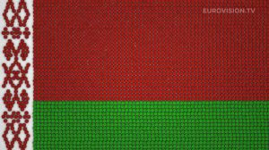 Postcard flags of Eurovision 2014 - Belarus