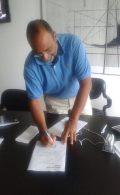 San Marino RTV General Director Carlo Romeo signs for participation forms!