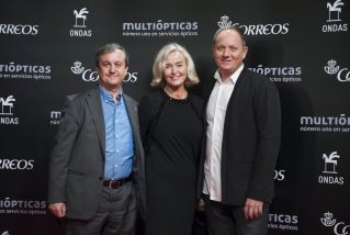 Federico Llano (TVE deputy director of co-productions and festivals) with DR's Pernille Gaardbo (Executive Producer) and Jan Lagermand Lundme (Head of show)