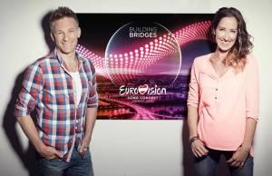 Andi Knoll als Kommentator der ORF-Übertragung und Kati Bellowitsch