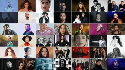 Eurovision 2020: The 41 chosen representatives