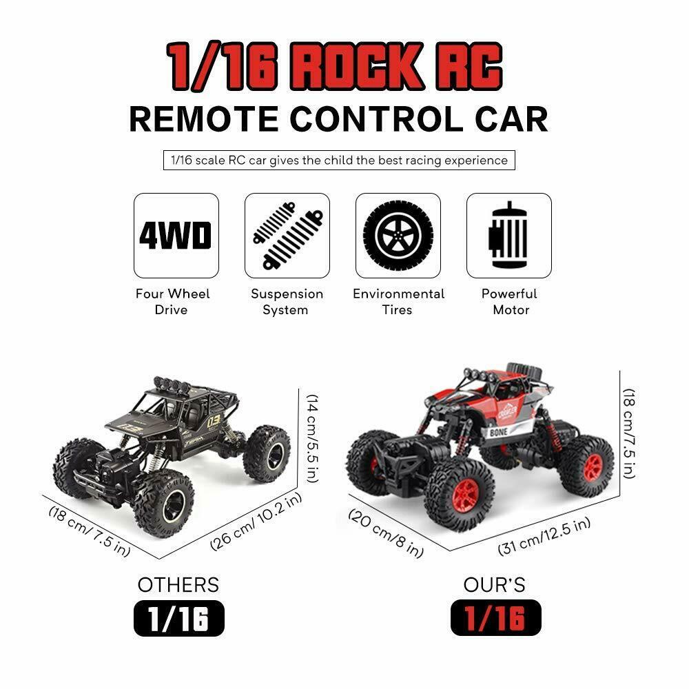 4WD FAST RC RADIO REMOTE CONTROL CAR 1/16 Off-Road Racing