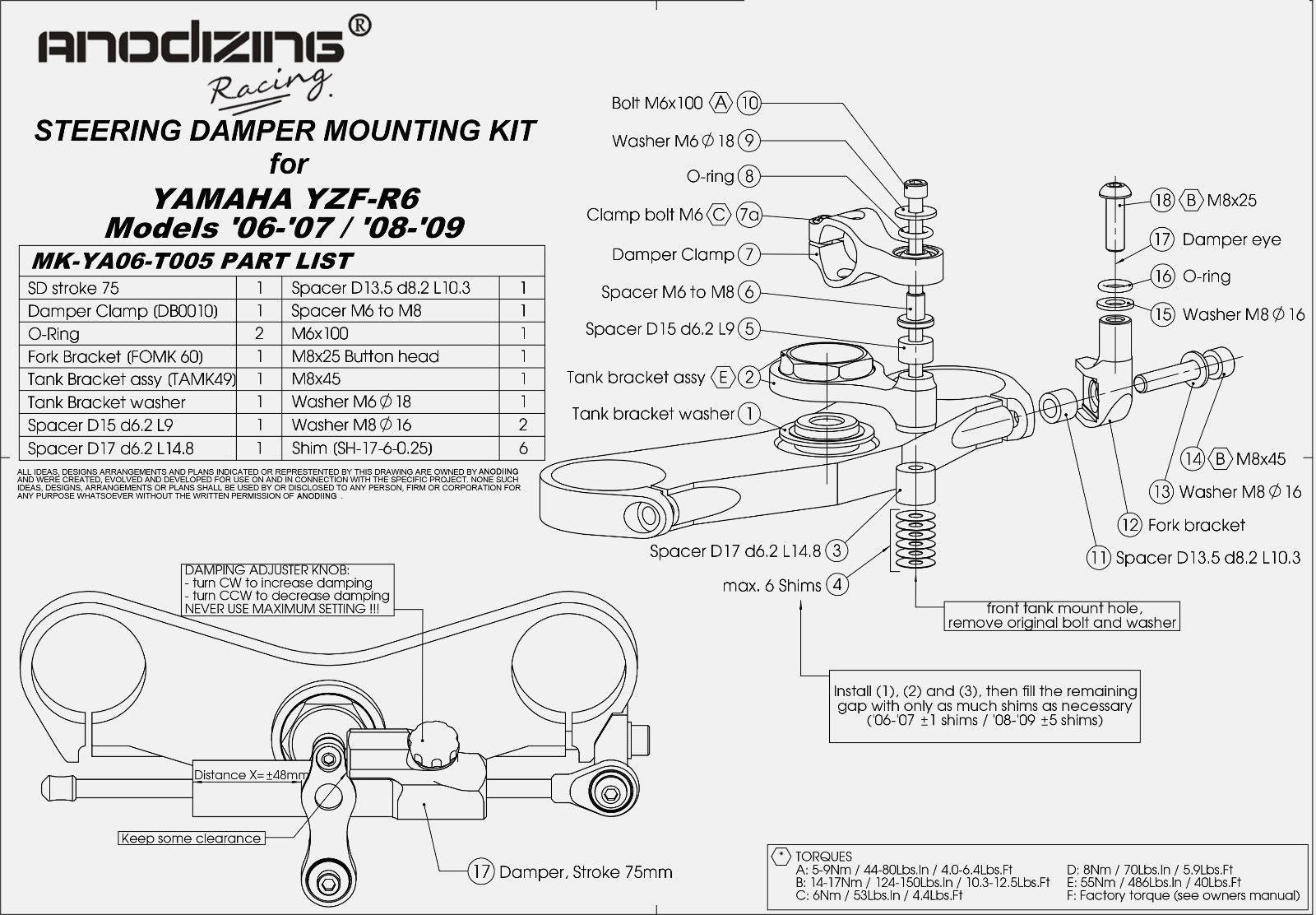Cnc Steering Damper Stabilizer Linear Bracket Kit For