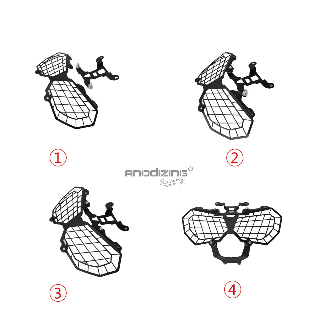 Motorcycle Grille Headlight Protector Guard Cover For