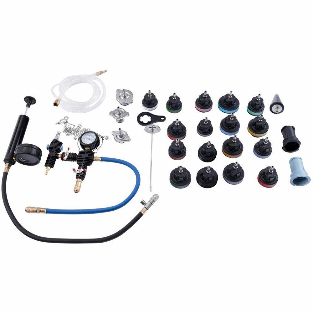28pc Car Radiator Leak Pressure Tester Engine Water Tank