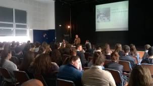 Conférence sur le dessin de presse au lycée Saint Catherine, Le Mans