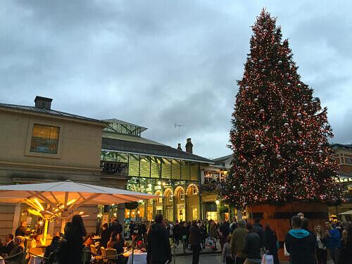 Covent Gardenのクリスマス・マーケット