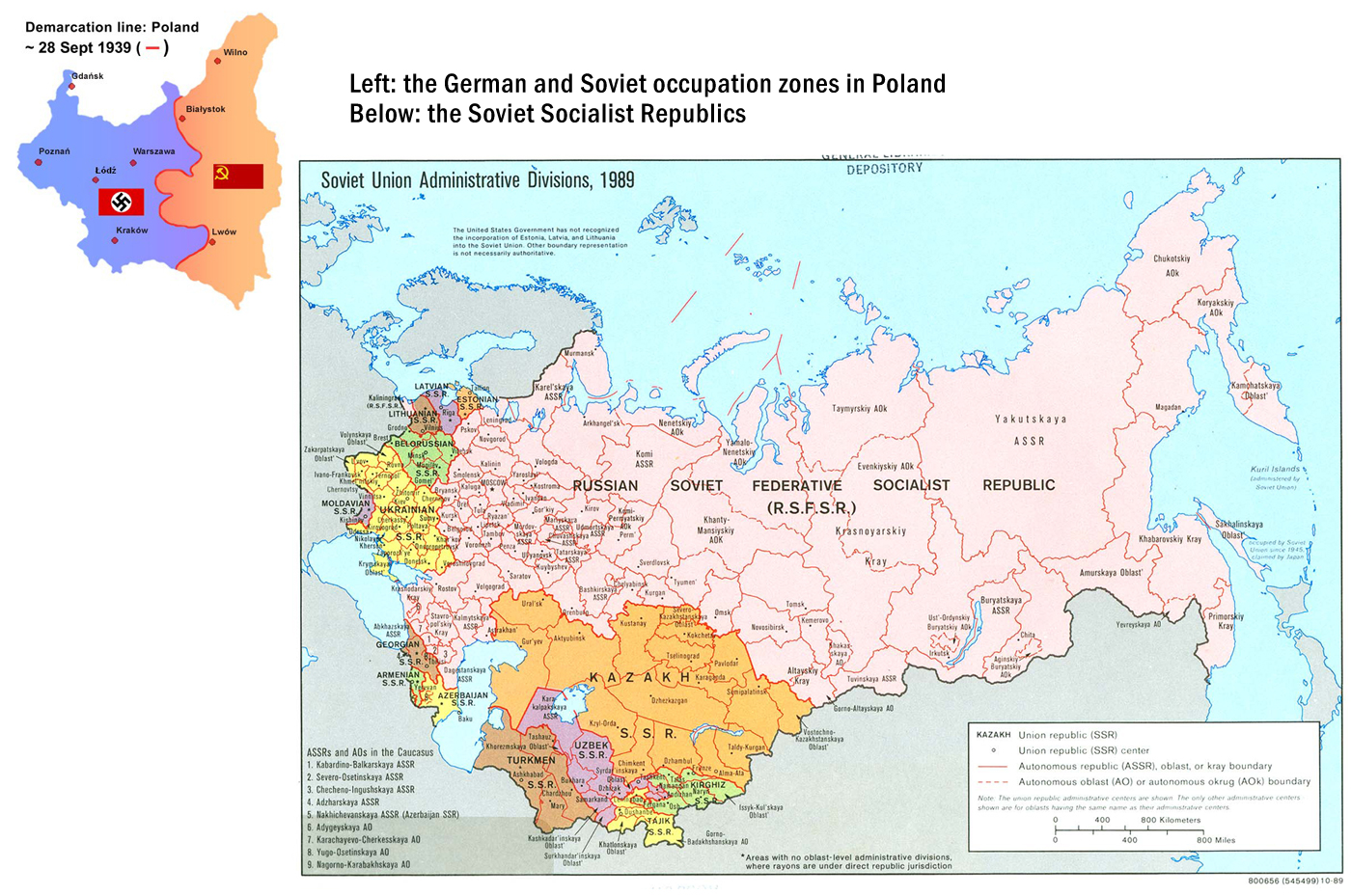 Which Two Major Allied Nations Appear On The Map