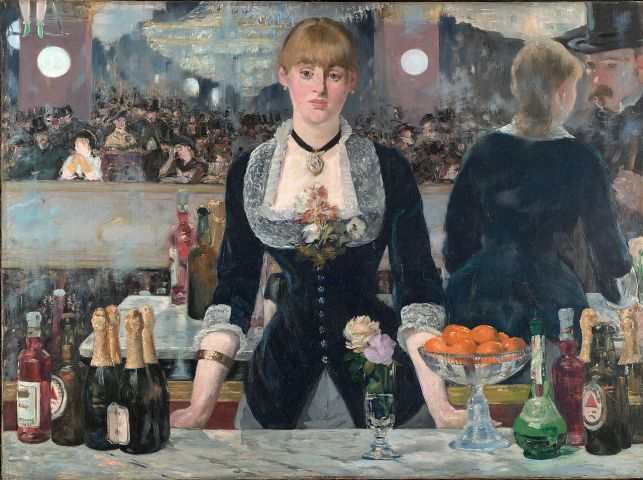Edouard Manet, A Bar at the Folies Bergère in London museum