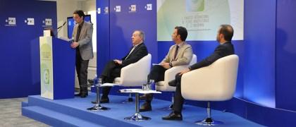 Luis Calandre, Luis Moser, Emilio Crespo y Carlos Gosh en la Inauguración del Primer Congreso de medios Universitario