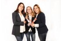 De izda. a drcha.: Ana Rubio, Marta Barajas y Ruth Rodríguez, amigas y emprendedoras en www.brochetasdechuches.com