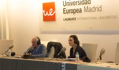 Paco García Caridad y la Vicedecana de Comunicación