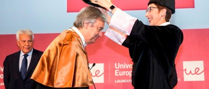 Antonio Guterres, Honoris Causa por la Universidad Europea