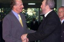 El Rey emérito Juan Carlos I con Fidel Castro