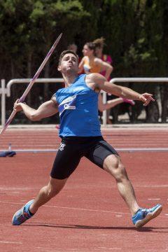 Un atleta de la Universidad de León durante el Campeonato de España de Atletismo Universitario. | Foto: EFE/Marcial Guillén