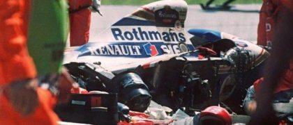 El coche de Aytor Senna tras el accidente. Foto: F1 en estado puro