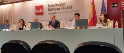 De izquierda a derecha: Juan José Ceballos, Blanca Hurtado, Eduardo de Miguel, Mariano Gómez, Jacob Petrus y María Francisca Casado.