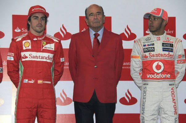 El Banco Santander patrocinó a Mc Laren y Ferrari.   EFE