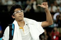 Chung tras retirarse en el Open de Australia /EFE