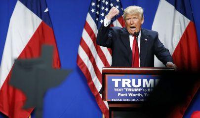 Donald Trump en uno de sus discursos. Foto: Mike Stone.