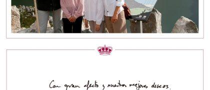 """GRAF4652. MADRID, 10/12/2018.- Imagen facilitada por la Casa de Su Majestad el Rey, de la Familia Real posando, el Rey Felipe VI, la reina Letizia, la infanta Sofía y la Princesa Leonor, que felicitan la Navidad y el año 2019 """"Con gran afecto y nuestros mejores deseos""""- EFE/Casa de S.M. El Rey"""