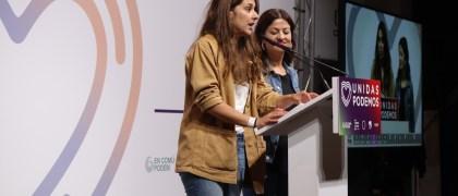Declaraciones de las portavoces de Unidas podemos / Delia Saiz