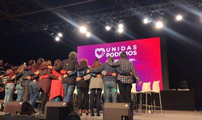 IFEMA CIERRE DE CAMPAÑA DE UNIDAS PODEMOS- Estefanía Salvador y Manuela Dorronsoro