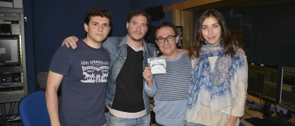 Coque Martín, de Los Vengadores, con el equipo de UEMdía