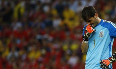 Casillas muestra su desconsuelo Foto: Twitter