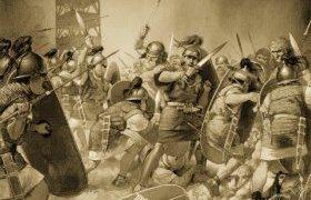 batalla-entre-romanos-cantabras-y-astures