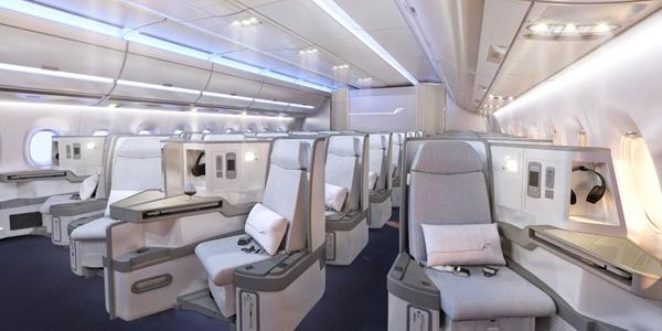 Finnair Airbus A350 XWB Business Class Cabin