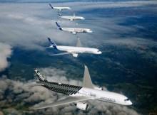 Airbus A350 XWB formation flight