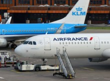 Planes of Air France and KLM