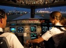 Cockpit crew in Airbus A320
