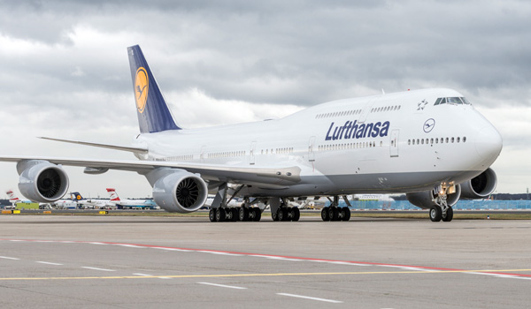 Lufthansa Boeing 747-8 Intercontinental at Frankfurt Airport